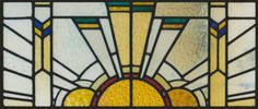 Contemporary Stained Glass Sun