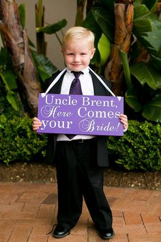 Uncle Here Comes your Bride, Wedding Sign Flower Girl Sign with Handle DOUBLE SIDED, Ring Bearer, Wedding Photo Prop, Ceremony decor