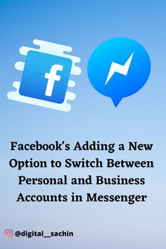 Facebook's Adding a New Option to Switch Between Personal and Business Accounts in Messenger  #facebookupdates #facebooknewfeatures #messenger #facebookbusiness #socialmediaupdates #digitalsachin #digitalmarketing #digitalmarketingupdates #socialmediaupdates Facebook New Features, Social Media Marketing, Digital Marketing, Social Media Updates, Facebook Business, Accounting, Ads, Photo And Video, Instagram