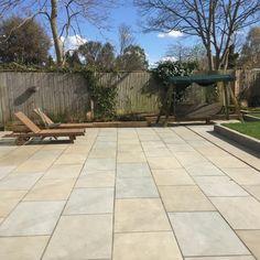 Heath Sawn Sandstone Paving is a hardwearing consistently coloured grey Indian Sandstone Sandstone Paving Slabs, Paving Stones, Outdoor Paving, Garden Paving, Patio Slabs, Patio Flooring, Backyard Projects, Garden Projects, Garden Ideas