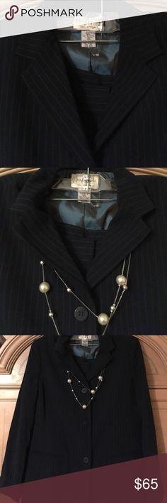 Beautiful blue suit for new job Interviews Office Beautiful McFadden designer pinstripe suit jacket + pants. Wears LOOSELY - last pictures are examples ONLY ways to wear! 💥 Great for office to evening! Classic style! Can't find suits - listed at pants. 💥can wear belted Chanel Runway style. It's wearing an authentic Vintage Chanel Belt! 💥Reminisent of a Vintage Gucci 5k, Chanel 12k suit! 💥don't pass it by! Gorgeous 💥See my other items, adding Gucci more! 💥No trades! 💥Dior tote & more…