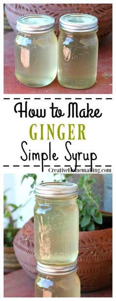 make an easy ginger simple syrup to refrigerate or can to make homemade ginger ale.How make an easy ginger simple syrup to refrigerate or can to make homemade ginger ale. Homemade Ginger Ale, Homemade Syrup, Homemade Butter, Kombucha, Mojito, Soda Stream Recipes, Ginger Syrup, Ginger Ale Recipe, Ginger Beer