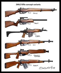 LeeEnfieldsCustomStockConcepts by Souzousha: 1 - Stock SMLE II or III 2…