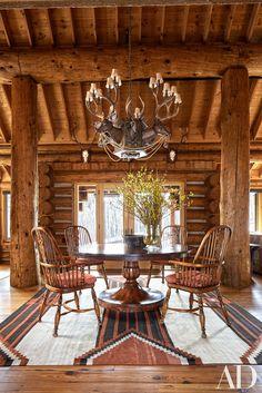 Inside Pauline Pitt's Rustic Aspen Getaway Photos | Architectural Digest