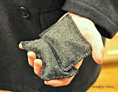 Make these for winter! Poly-fleece filled with rice. Just pop these in the microwave for 30 seconds and then slip them into coat pockets to keep hands warm for up to an hour. Includes instructions. // I NEED this for winter.