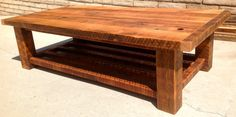 Farm Style  Solid Reclaimed Wood Fir Coffee Table by LumaWorks, $600.00