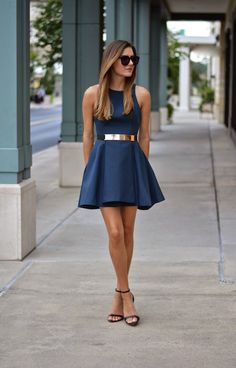 I like this, but want it to look effortless and have an element of casual, not wedding. I would want it to have the gold belt and have you both west mostly navy/midnight if something like this was picked. (For pictures)