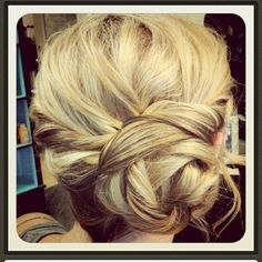 knotted updo in a pretty color