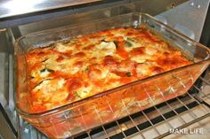 Easy Zucchini Recipes, Healthy Recipes, Low Carb Recipes, Quiche Au Brocoli, Zucchini Bread, Paleo Breakfast, Four, Lasagna, Food Videos