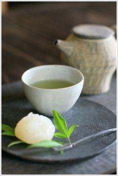 Green tea and sweet