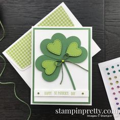 Hearts for Happy St. Patrick's Day Card (Mary Fish, Stampin' Pretty The Art of Simple & Pretty Cards), patricks day aesthetic Hearts for Happy St. Patrick's Day Card (Mary Fish, Stampin' Pretty The Art of Simple & Prett. Mary Fish, St Patricks Day Cards, Happy St Patricks Day, Sant Patrick, Stampin Pretty, Cute Backgrounds, Heart Cards, Pretty Cards, Ideas