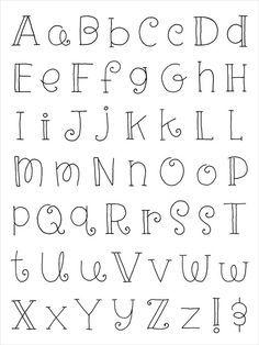 Nice lettering for Buffet Decoration - Doodlebug clear stamp Hand Lettering Alphabet, Doodle Lettering, Creative Lettering, Lettering Styles, Calligraphy Letters, Brush Lettering, Pretty Fonts Alphabet, Doodle Alphabet, Alphabet Stamps