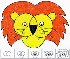 Art Projects for Kids: Three Circle Lion