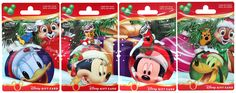 New Holiday Gift Cards Featuring Donald Duck, Minnie Mouse, Mickey Mouse, Pluto, and Chip and Dale Coming to Disney Parks Disneyland Christmas, Disney Gift Card, Disney World Parks, Chip And Dale, Disney Addict, Disney Star Wars, Free Gift Cards, Christmas Activities, Disney Pictures