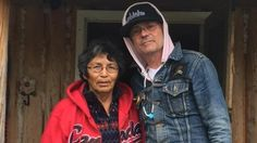 Musician Gord Downie (right) visited Pearl Wenjack at her home in Marten Falls First Nation in September in advance of the launch of his Secret Path project, devoted to Pearl's brother Chanie (Charlie) Wenjack.