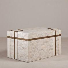 Talisman A Superb Rare Tessellated Stone Maitland Smith Chest 1970s -