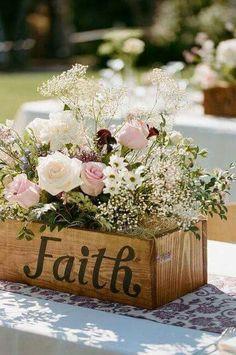Casamento na Fazenda, Centro de mesa.