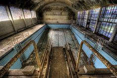 Abandoned swimming pool, Berlin. Shown on the news during the olympics in 2012 as a former olympic swimming pool.