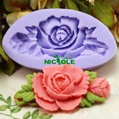 Aliexpress.com da dan deki Nicole f0199 s 3d reçine çiçek polimer kil şeker çikolata silikon kalıplar