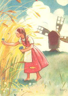 Martta Wendelin - Vehnäpelto, tuulimylly