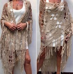 Crochet Ruana Pattern: Rockin-It Ruana Crochet Wrap Pattern, Shrug Pattern, Cardigan Pattern, Crochet Shirt, Crochet Cardigan, Crochet Lace, Knit Shrug, Crochet Shawls And Wraps, Crochet Wedding