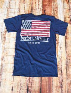 BU American Flag - NAVY at Barefoot Campus