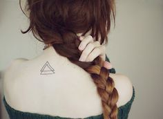 InknArt Temporary Tattoo - 2pcs Double Triangle wrist quote tattoo body sticker fake tattoo wedding tattoo small tattoo