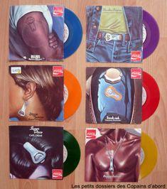Les disques vinyle de couleur et les picture-discs par Nath-Didile - Frankie Goes To Hollywood, Pink Floyd, Dark Side, Cafe Creme, Dj, Blues, Clock, Vintage, Vinyl Record Case