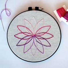 modern embroidery pattern