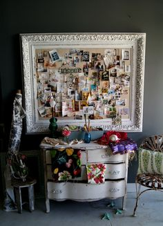 "Inspiration board @ Chartreuse with items we have ""in house""! One of my favorite places to shop for House stuff!!!"