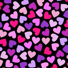 Pink And Purple Hearts custom fabric by ornaart for sale on Spoonflower Heart Wallpaper, Iphone Background Wallpaper, Love Wallpaper, Colorful Wallpaper, Fabric Wallpaper, Love Backgrounds, Iphone Backgrounds, Iphone Wallpapers, Background Images