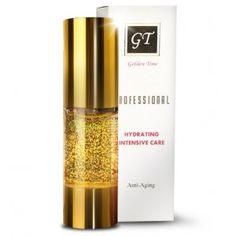 GOLDEN TIME GOLD SERUM, zlate sérum 24 K, 30 ml, luxusní omlazující pleťové sérum s kousky  pravého zlata  proti vráskám s elastinem.  Vyhladí a vypne vrásky,  omladí a rozjasní pleť. Vysoké hydratační účinky.