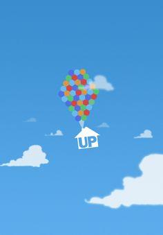 Up (2009) ~ Minimal Movie Poster by Simon Fischer #amusementphile
