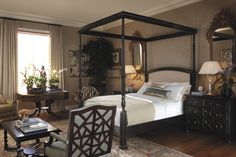 Bedroom designed by Michael S Smith - featuring the striking Portsmith Canopy Bed