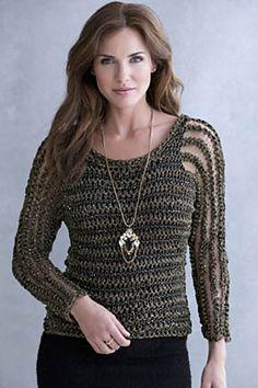 Ravelry: Delores Sheer-Stripe Pullover pattern by Irina Poludnenko