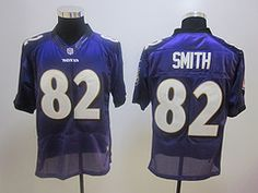 $19.85 2012 Nike Baltimore Ravens #82 Smith purple Elite jerseys