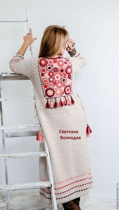 Best 11 Galina's wall photos – photos Gilet Crochet, Crochet Coat, Knitted Coat, Crochet Jacket, Crochet Cardigan, Crochet Clothes, Mode Kimono, Langer Mantel, Knit Fashion
