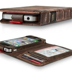 Book holder for your phone and cards! This is slightly awesome!