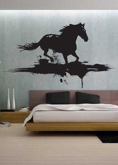 Modern Horse - Wall Decal Vinyl Decor Art Sticker Removable Mural Modern Animals Art from UberDecals on Etsy. Modern Wall Decals, Removable Vinyl Wall Decals, Modern Wall Art, Wall Stickers, Horse Mural, Horse Wall Decals, Vinyl Decor, Art Decor, Decoration