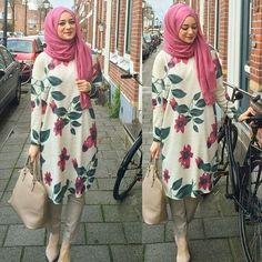 really like this hijab outfit Hijab Fashion 2016, Modest Fashion, Girl Fashion, Fashion Dresses, Emo Fashion, Fashion Muslimah, Abaya Fashion, Moslem Fashion, Moda Formal