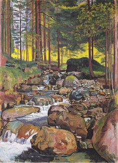 Ferdinand Hodler「Forest with a Mountain Stream」
