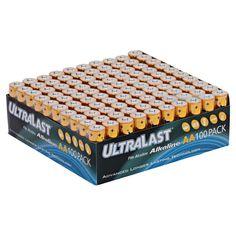 ULTRALAST ALKALINE BATTERIES 100 PACK AA BULK BOX NEW GENERAL PURPOSE     #UltraLast