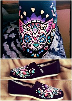 Hey, I found this really awesome Etsy listing at https://www.etsy.com/listing/182333496/chihuahua-sugar-skull-color-hand-painted
