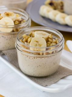 Healthy Banana Chia Seed Breakfast Custards! [ SkinnyFoxDetox.com ] #Paleo #skinny #health
