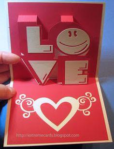 LOVE pop up card