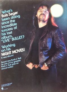 Bob Seger Promotional Ad https://www.facebook.com/FromTheWaybackMachine/