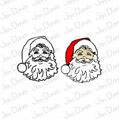 A personal favorite from my Etsy shop https://www.etsy.com/listing/254302109/santa-clause-svg-dxf-eps-santa-svgsanta
