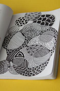 zentangle- I like the idea of repeating shapes...it might be cool for students to design their symbol vary the sizes, repeat it on paper then draw zentangles within their symbols