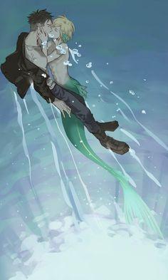 I can't help falling in love with this Yuri! On Ice Yurio, Otabek Mermaid Drawings, Mermaid Art, Character Inspiration, Character Art, Yurio And Otabek, Couple Manga, Creation Art, ユーリ!!! On Ice, Yuri Plisetsky