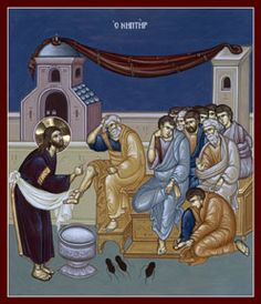 Christ's humility- washing the disciples' feet (Holy Thursday)